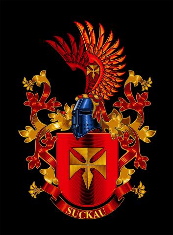 герб семьи раскраска